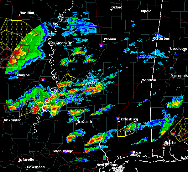 Radar Image for Severe Thunderstorms near Fayette, MS at 1/21/2017 8:16 PM CST