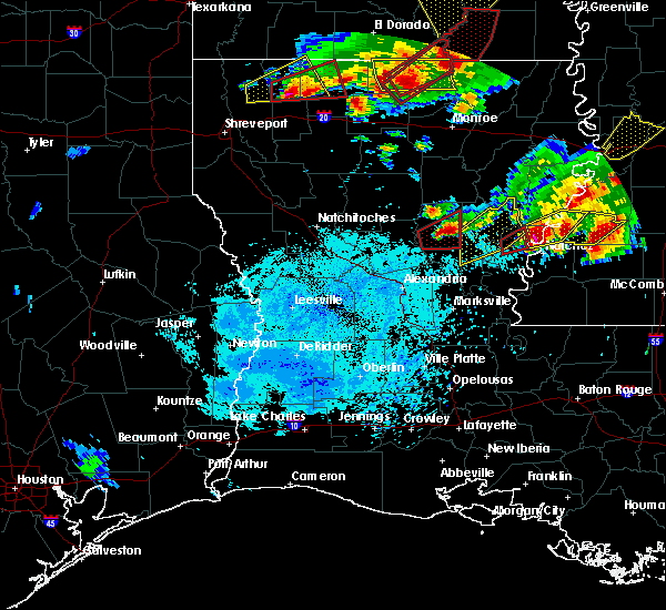 Radar Image for Severe Thunderstorms near Minorca, LA at 1/21/2017 8:28 PM CST