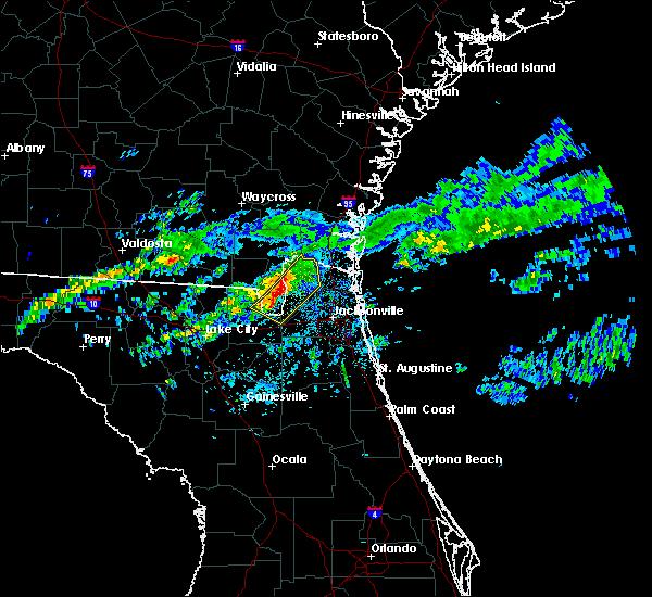 Radar Image for Severe Thunderstorms near Nassau Village-Ratliff, FL at 1/21/2017 9:36 PM EST