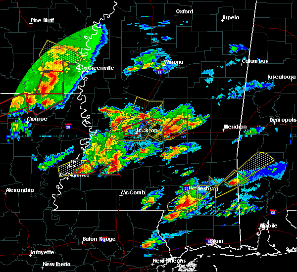 Radar Image for Severe Thunderstorms near Fayette, MS at 1/21/2017 9:08 PM CST