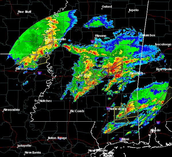 Radar Image for Severe Thunderstorms near Decatur, MS at 1/21/2017 10:01 PM CST