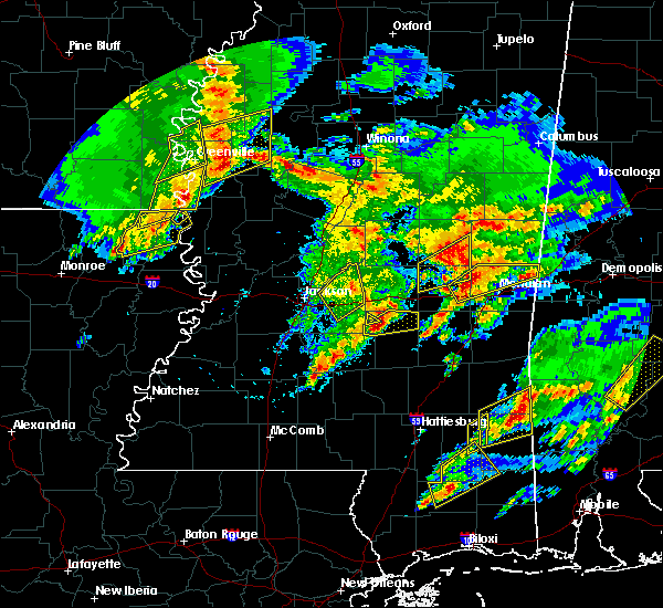 Radar Image for Severe Thunderstorms near Lauderdale, MS at 1/21/2017 10:16 PM CST