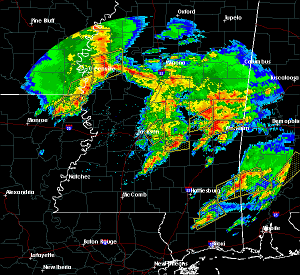 Radar Image for Severe Thunderstorms near Polkville, MS at 1/21/2017 10:20 PM CST