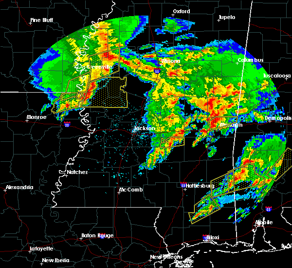 Radar Image for Severe Thunderstorms near Eden, MS at 1/21/2017 10:31 PM CST