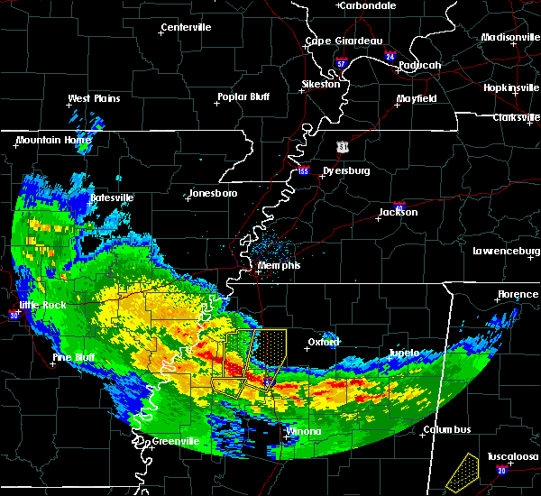 Radar Image for Severe Thunderstorms near Oakland, MS at 1/21/2017 11:21 PM CST