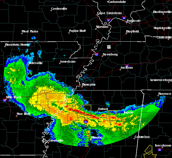 Radar Image for Severe Thunderstorms near Sledge, MS at 1/21/2017 11:42 PM CST