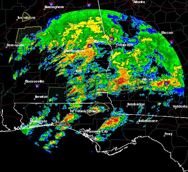 Radar Image for Severe Thunderstorms near Arlington, GA at 1/22/2017 1:40 AM EST