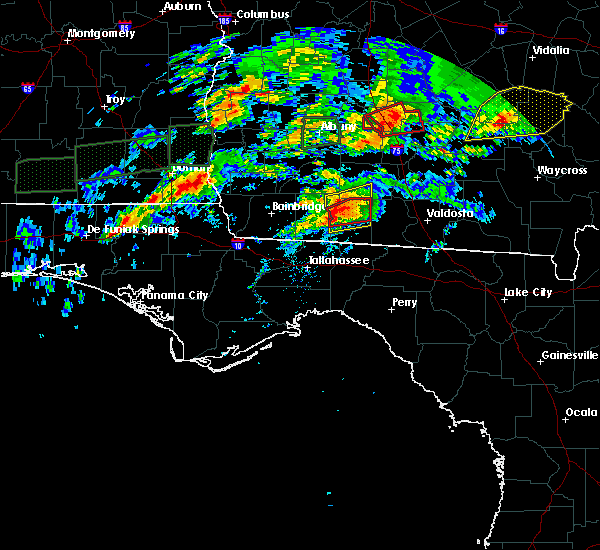 Radar Image for Severe Thunderstorms near Moultrie, GA at 1/22/2017 2:56 AM EST