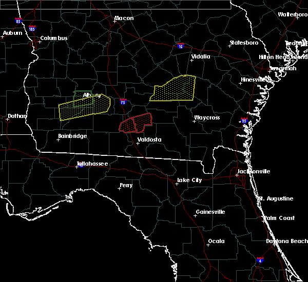 Radar Image for Severe Thunderstorms near Nashville, GA at 1/22/2017 3:51 AM EST