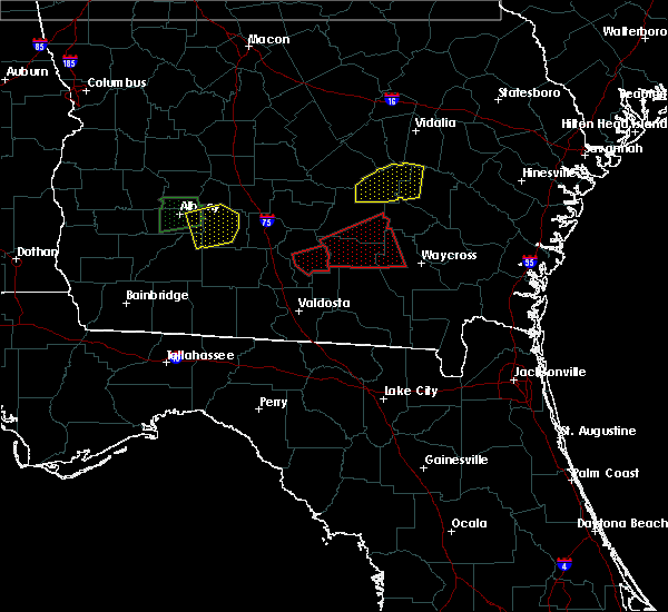 Radar Image for Severe Thunderstorms near Nashville, GA at 1/22/2017 4:24 AM EST