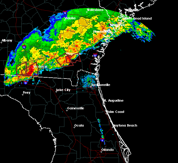 Radar Image for Severe Thunderstorms near Nahunta, GA at 1/22/2017 8:24 AM EST