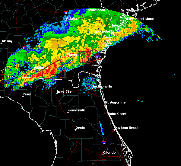 Radar Image for Severe Thunderstorms near Dock Junction, GA at 1/22/2017 9:07 AM EST