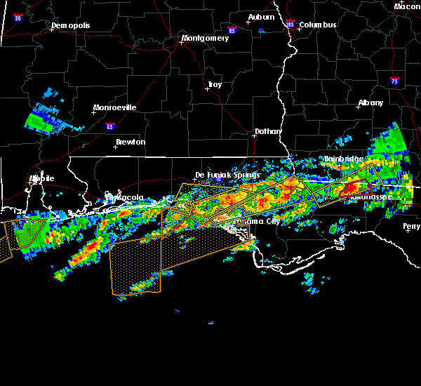 Radar Image for Severe Thunderstorms near Ponce de Leon, FL at 1/22/2017 8:10 AM CST