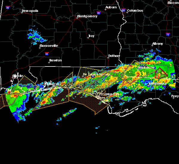 Radar Image for Severe Thunderstorms near Niceville, FL at 1/22/2017 8:37 AM CST
