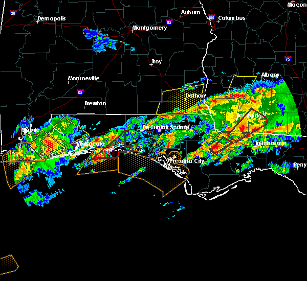 Radar Image for Severe Thunderstorms near Niceville, FL at 1/22/2017 9:14 AM CST