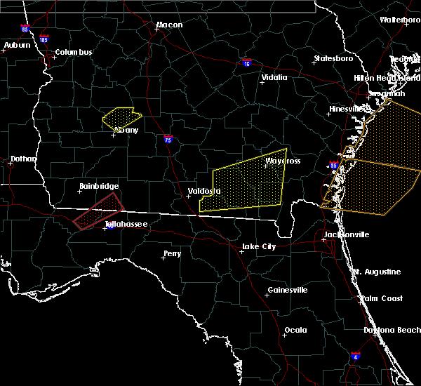 Radar Image for Severe Thunderstorms near Homerville, GA at 1/22/2017 11:00 AM EST