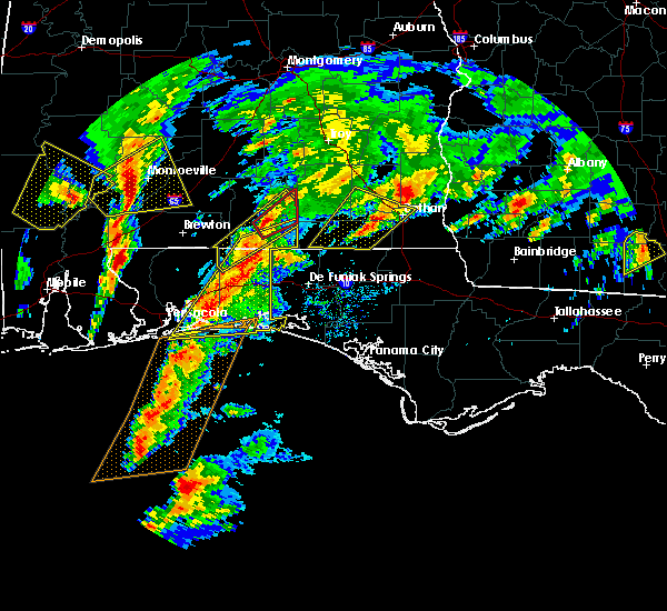 Radar Image for Severe Thunderstorms near Niceville, FL at 1/22/2017 11:10 AM CST