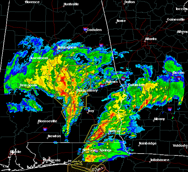 Radar Image for Severe Thunderstorms near Hissop, AL at 1/22/2017 12:35 PM CST