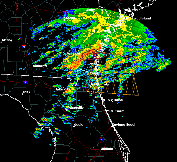 Radar Image for Severe Thunderstorms near Palm Valley, FL at 1/22/2017 1:38 PM EST
