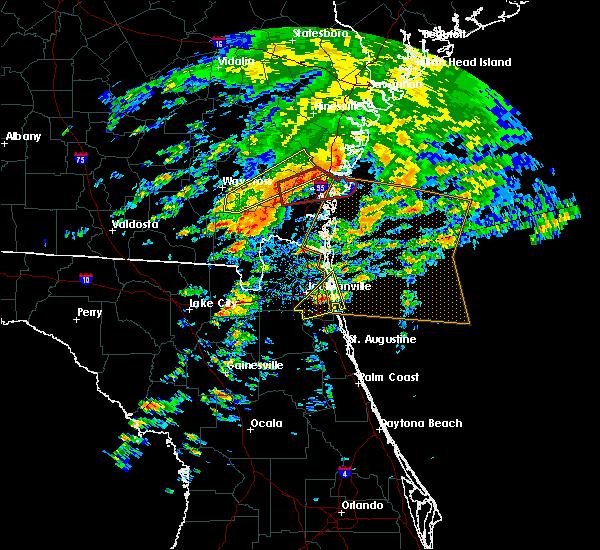 Radar Image for Severe Thunderstorms near Jacksonville, FL at 1/22/2017 1:38 PM EST