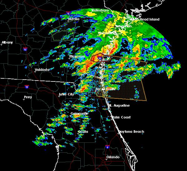 Radar Image for Severe Thunderstorms near Jacksonville, FL at 1/22/2017 1:57 PM EST