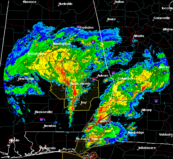 Radar Image for Severe Thunderstorms near Midway, AL at 1/22/2017 1:00 PM CST