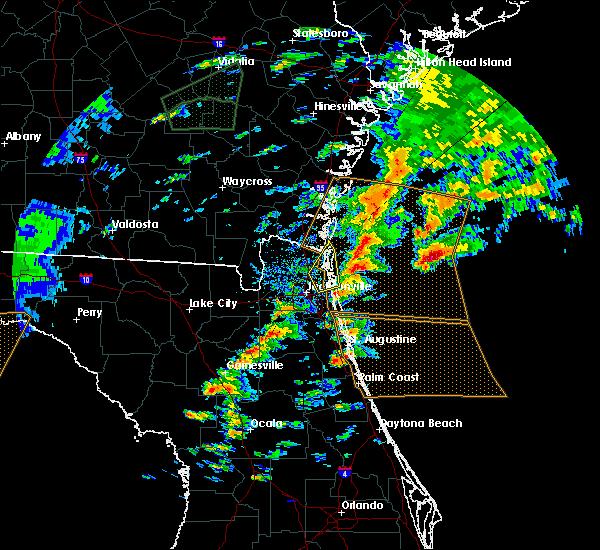 Radar Image for Severe Thunderstorms near Jacksonville, FL at 1/22/2017 2:55 PM EST