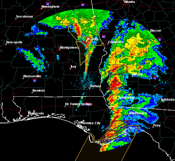 Radar Image for Severe Thunderstorms near Colquitt, GA at 1/22/2017 2:58 PM EST