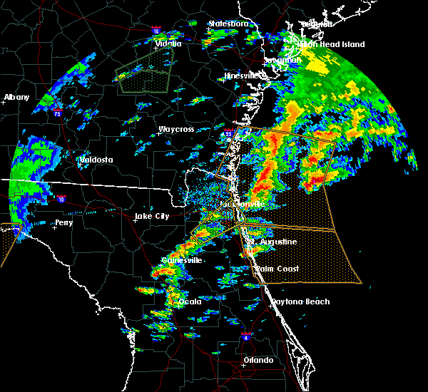 Radar Image for Severe Thunderstorms near Fleming Island, FL at 1/22/2017 3:07 PM EST