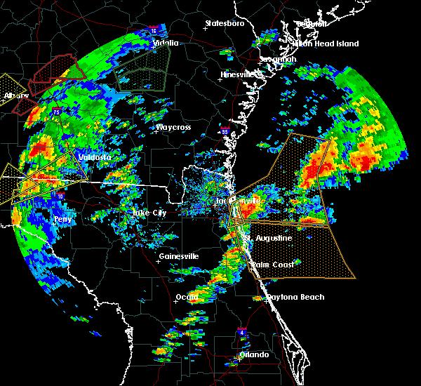 Radar Image for Severe Thunderstorms near Jacksonville, FL at 1/22/2017 4:02 PM EST