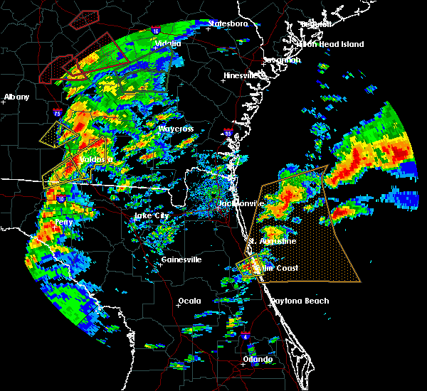 Radar Image for Severe Thunderstorms near Flagler Estates, FL at 1/22/2017 4:29 PM EST