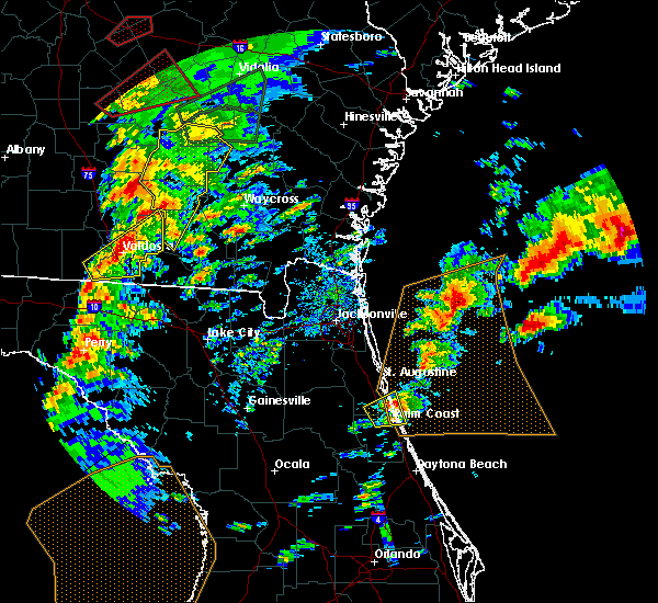 Radar Image for Severe Thunderstorms near Palm Coast, FL at 1/22/2017 4:38 PM EST