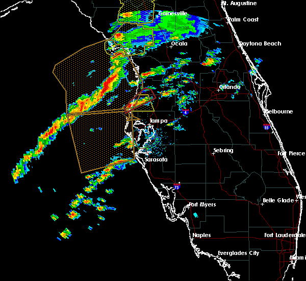 Radar Image for Severe Thunderstorms near Cheval, FL at 1/22/2017 5:45 PM EST