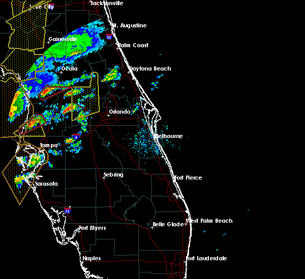 Radar Image for Severe Thunderstorms near Sorrento, FL at 1/22/2017 5:58 PM EST