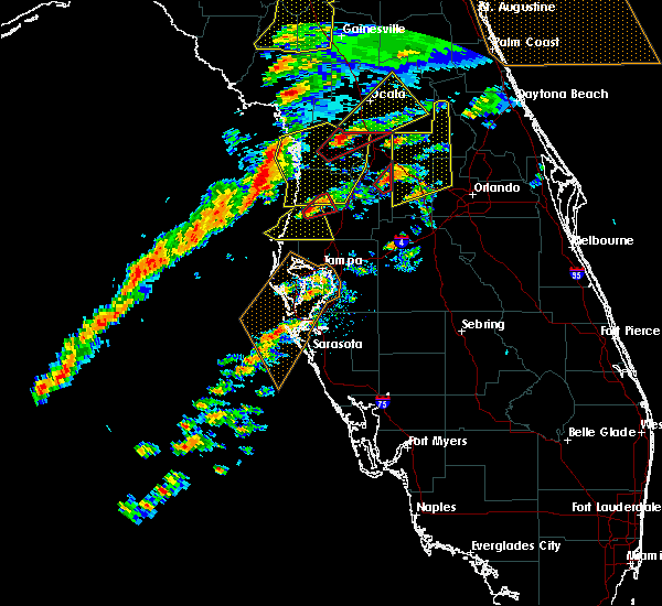 Radar Image for Severe Thunderstorms near Webster, FL at 1/22/2017 6:04 PM EST