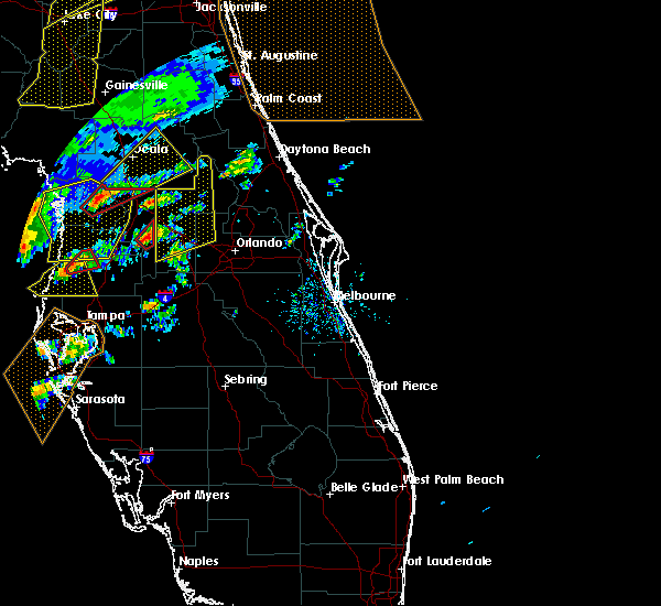 Radar Image for Severe Thunderstorms near Groveland, FL at 1/22/2017 6:07 PM EST