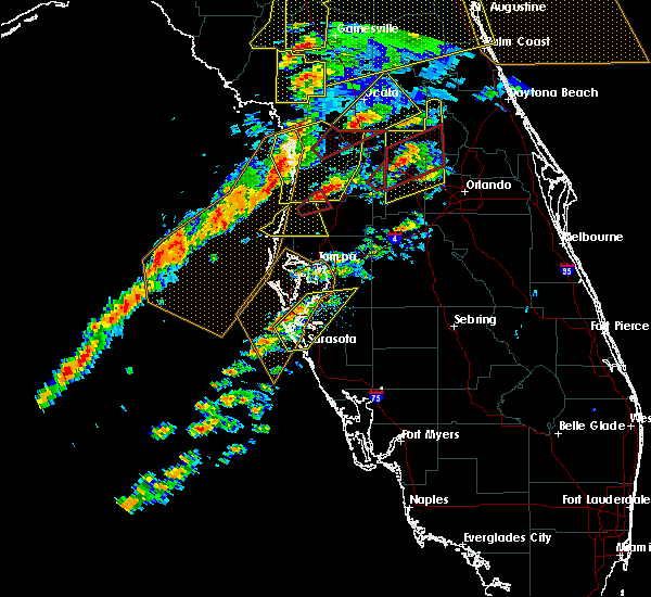 Radar Image for Severe Thunderstorms near Sarasota, FL at 1/22/2017 6:16 PM EST