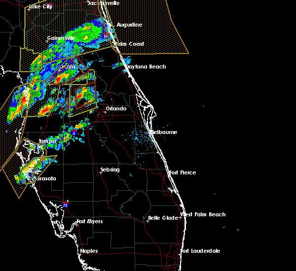 Radar Image for Severe Thunderstorms near Sorrento, FL at 1/22/2017 6:19 PM EST