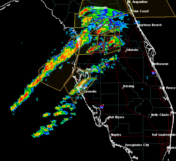 Radar Image for Severe Thunderstorms near Webster, FL at 1/22/2017 6:26 PM EST