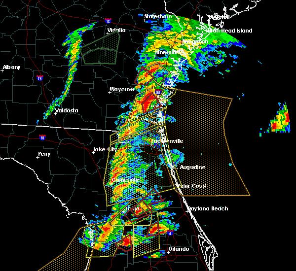 Radar Image for Severe Thunderstorms near Welaka, FL at 1/22/2017 6:41 PM EST