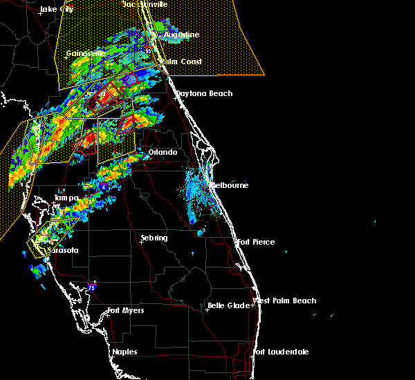 Radar Image for Severe Thunderstorms near Sorrento, FL at 1/22/2017 6:41 PM EST