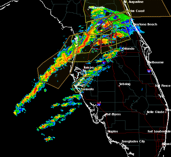 Radar Image for Severe Thunderstorms near Groveland, FL at 1/22/2017 6:44 PM EST