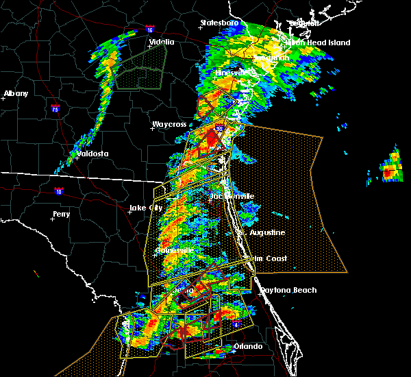 Radar Image for Severe Thunderstorms near Welaka, FL at 1/22/2017 6:44 PM EST