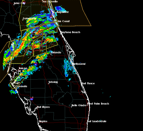Radar Image for Severe Thunderstorms near Wekiwa Springs, FL at 1/22/2017 6:45 PM EST