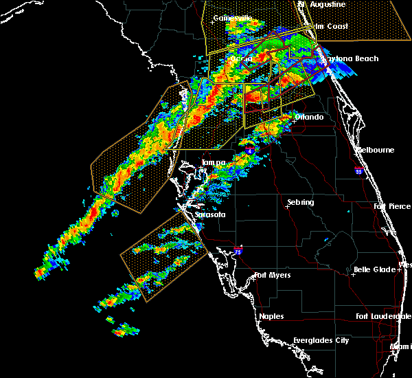 Radar Image for Severe Thunderstorms near St. Leo, FL at 1/22/2017 6:47 PM EST