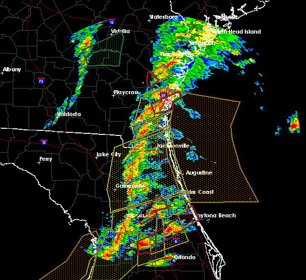 Radar Image for Severe Thunderstorms near Ormond Beach, FL at 1/22/2017 6:50 PM EST