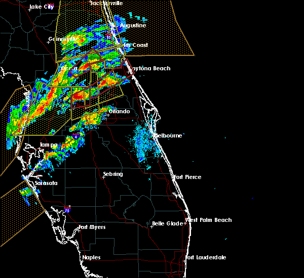 Radar Image for Severe Thunderstorms near North DeLand, FL at 1/22/2017 6:50 PM EST