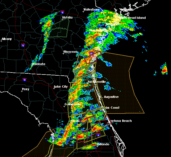 Radar Image for Severe Thunderstorms near Welaka, FL at 1/22/2017 6:53 PM EST