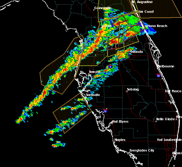 Radar Image for Severe Thunderstorms near Mascotte, FL at 1/22/2017 6:57 PM EST