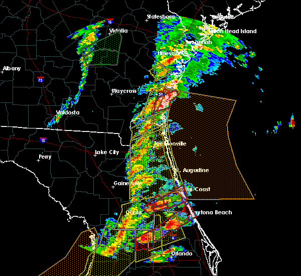 Radar Image for Severe Thunderstorms near Callahan, FL at 1/22/2017 6:59 PM EST